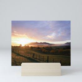 New Zealand Sunrise Mini Art Print
