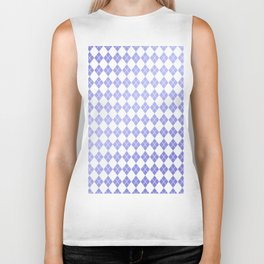 Modern geometric ultraviolet white diamonds patterns Biker Tank