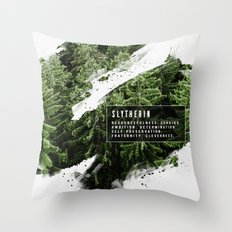 Slytherin Nature Throw Pillow