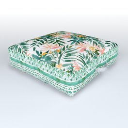 VACAY VIBES Tropical Palm Outdoor Floor Cushion