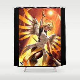 mercy watch Shower Curtain