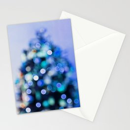 So this is Christmas in blue Stationery Cards