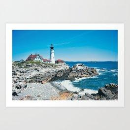 Coastal Maine Lighthouse Art Print