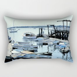 Boats congregate at the Kittery Point Maine harbor Rectangular Pillow