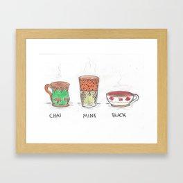 Chai Tea, Mint Tea, Black Tea Framed Art Print