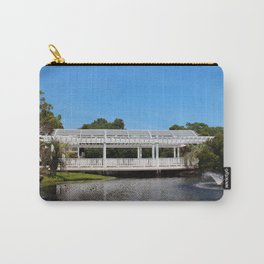 Charming White Wooden Bridge Carry-All Pouch