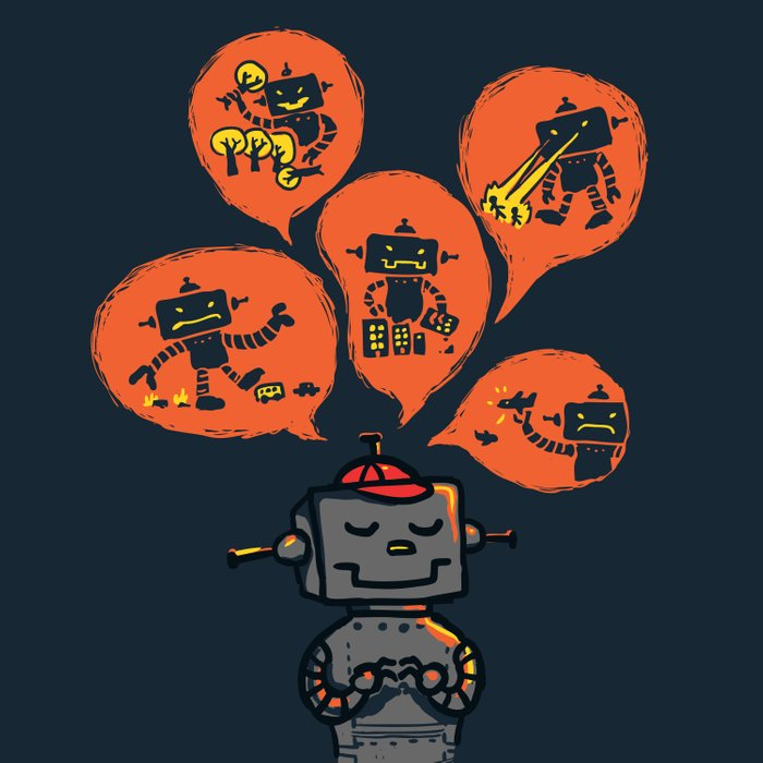 When I grow up - an evil robot dream Duvet Cover