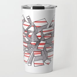 Red Fragmentation Travel Mug