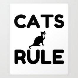 Cats Rule Paw Pet Fan Art Print