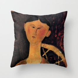 "Amedeo Modigliani ""Beatrice Hastings"" 1915 Throw Pillow"