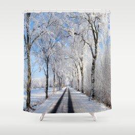 Winter-avenue Shower Curtain