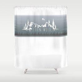 100% Wild Line Shower Curtain