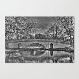 Grove Road Bridge, No 164 GUC Watford in Black and White Canvas Print