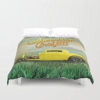 grafitti Duvet Covers featuring American Grafitti by Tony Vazquez