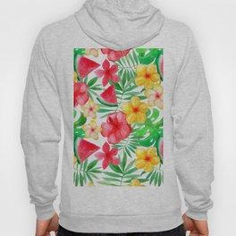 Happy Summer Life - Aloha Flowers and Melon - Pattern Hoody
