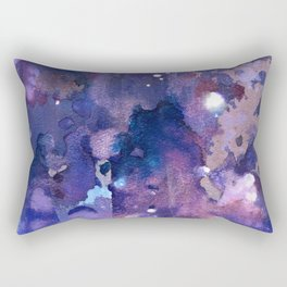 Constellations : purple, orchid, pink, blues, and white abstract painting Rectangular Pillow