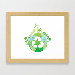 Green Planet Framed Art Print