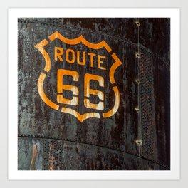 Route 66 Sign - Old Fuel Storage Tank - Arizona Art Print
