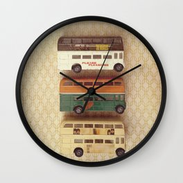 Fab Four Toy Buses Wall Clock