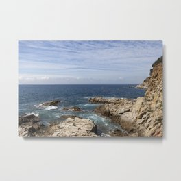 Shore of the Mediterranean sea Metal Print