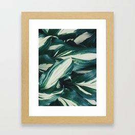 Wavy leaves Framed Art Print