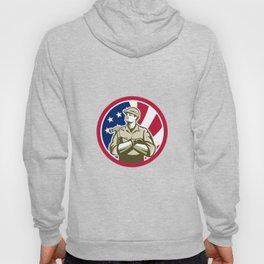 American Carpenter USA Flag Icon Hoody