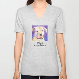Dogo Argentino Unisex V-Neck