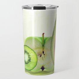 Fresh Green fruits watercolor painting Travel Mug