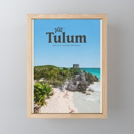 Visit Tulum Framed Mini Art Print