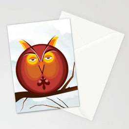 Otis the Owl on a Tuesday Stationery Cards