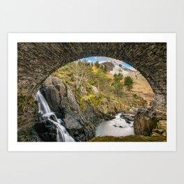 Pont Pen y Benglog Bridge Snowdonia Art Print