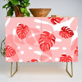 red monstera Credenza