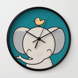 Kawaii Cute Elephant Wall Clock