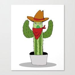 Cowboy Cactus Canvas Print