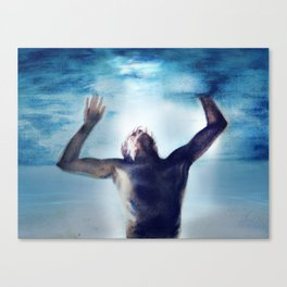 Swimming in the flood Canvas Print