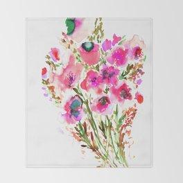 Bouquet Pink Throw Blanket