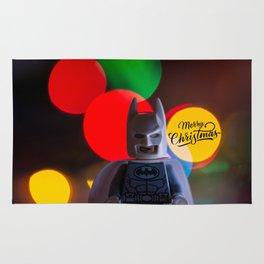 Bat Man Merry Christmas Rug