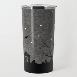 Spoopy Cemetery Print Travel Mug