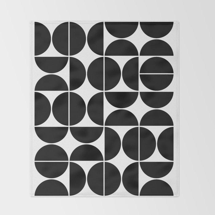 Mid Century Modern Geometric 04 Black Decke