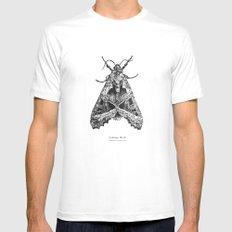 Cabbage Moth [Mamestra brassicae] Mens Fitted Tee White MEDIUM