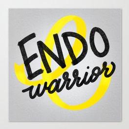 ENDO Warrior - Endometriosis Awareness Art - Advocate Canvas Print