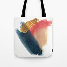 Fall Abstract 1 - minimal acrylic piece in blue, pinks, and gold Tote Bag