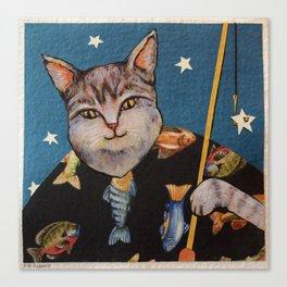 Cat Wishing Canvas Print