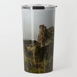 Foggy Mountaintop at Lost Mine Trail, Big Bend Travel Mug