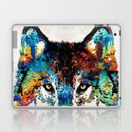 Wolf Art Print - Hungry - By Sharon Cummings Laptop & iPad Skin