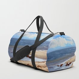On A Clear Day - Painterly Duffle Bag