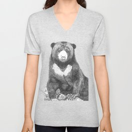 Malayan Sun Bear (Beruang Madu) Unisex V-Neck