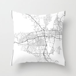 Minimal City Maps - Map Of Reno, Nevada, United States Throw Pillow