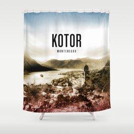 Kotor Wallpaper Shower Curtain