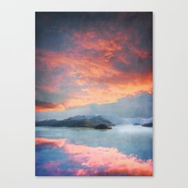 Sunset Over Lake Como Italy Canvas Print